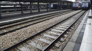 Les plateformes SNCF désertées Gare d'Austerlitz à Paris, pendant la grève, le 4 juin 2016. (DOMINIQUE FAGET / AFP)