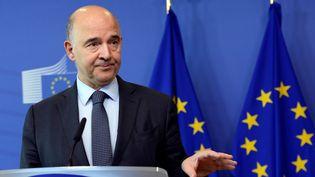 Le commissaire européen aux affaires économiques, Pierre Moscovici, le 12 juillet 2017. (THIERRY CHARLIER / AFP)