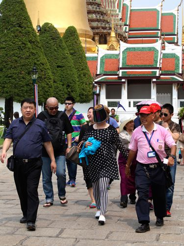 Touristes chinois à Bangkok (Lionel Deconinck)