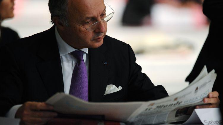 Le ministre des Affaires étrangères, Laurent Fabius, le 27 octobre 2012 à Toulouse (Haute-Garonne). (REMY GABALDA / AFP)