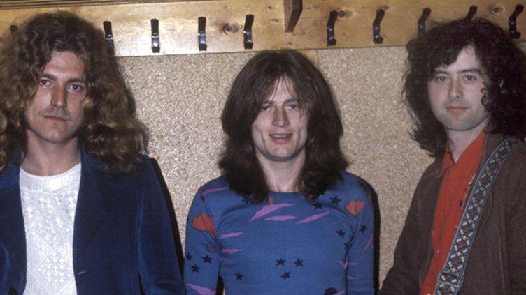 Led Zeppelin dans les années 70 : Robert Plant, John Paul Jones et Jimmy Page.  (Mazel / Sunshinephoto /MAXPPP)