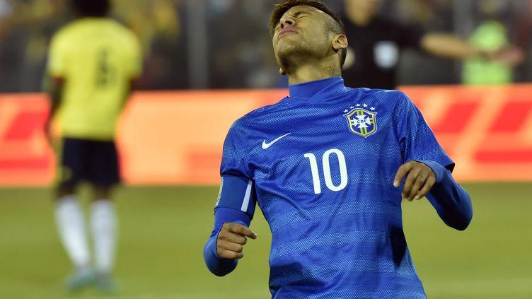 Neymar a été expulsé face à la Colombie (NELSON ALMEIDA / AFP)