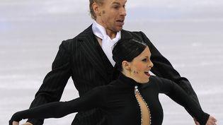 Olivier Schoenfelder et Isabelle Delobelaux jeux olympiques d'hiver à Vancouver en 2010 (SAEED KHAN / AFP)