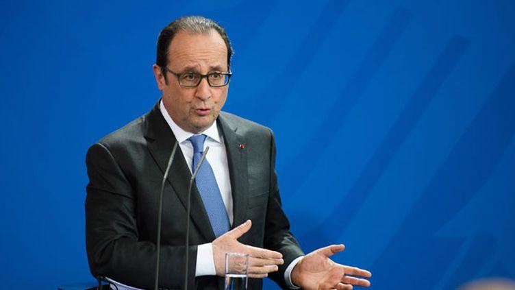 (François Hollande mardi à l'issue du Conseil des ministres franco-allemand © MAXPPP)