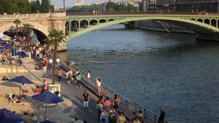 L'opération Paris Plages, sur les berges de la Seine en 2013. (MANUEL COHEN / AFP)
