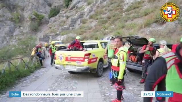 Italie : des randonneurs tués par une crue
