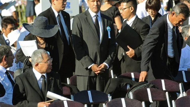 L'ambassadeur américain John Roos assiste au 65e anniversaire de la destruction d'Hiroshima (AFP/Jijipress)