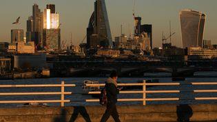 La City de Londres. Depuis 2003, Londres a instauré un péage urbain. (DANIEL LEAL-OLIVAS / AFP)