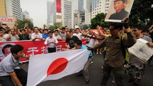 Manifestation anti japonaise à Shenzhen (Chine) le 18/9/2012 (AFP/Peter Parks)