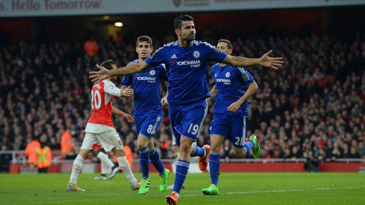 Diego Costa (Chelsea), buteur face à Arsenal (JAVIER GARCIA / BACKPAGE IMAGES LTD)
