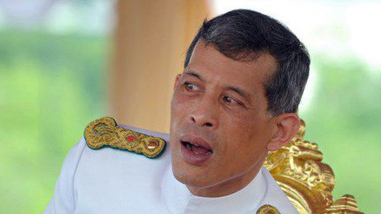 Le prince héritier, Maha Vajiralongkorn, lors d'une cérémonie officielle, le 11 mai 2005 à Bangkok. (PORNCHAI KITTIWONGSAKUL/AFPSTR / AFP)