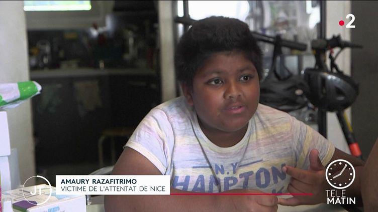 Amaury Razafitrimo, victime de l'attentat de Nice. (France 2)