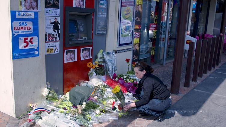 Deux soldats ont été tués et un troisième a été blessé par Mohamed Merahen pleine rue, à Montauban (Tarn-et-Garonne), le 15 mars. (PASCAL PAVANI / AFP)