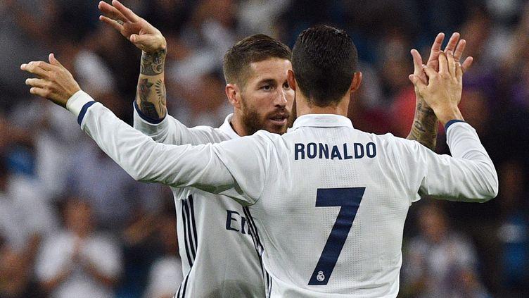 Sergio Ramos et Cristiano Ronaldo (GERARD JULIEN / AFP)