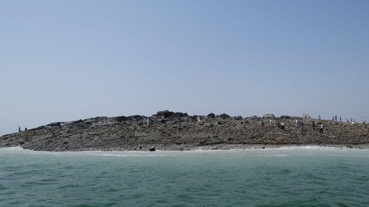L'île, à quelques kilomètres au large de Gwadar (Pakistan), le 25 septembre 2013. (PAKISTANI GOVERNMENT / AFP)