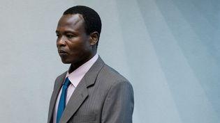 L'Ougandais Dominic Ongwen, ancien commandant de L'Armée de résistance du Seigneur (ARS,LRAen anglais),à la Cour pénale internationale de La Haye, aux Pays-Bas, le 6 décembre 2016. (POOL NEW / X80003)