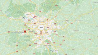 Capture de Google Maps pointant la ville de Trappes (Yvelines) où Didier Lemaire, un professeur de philosophie, a été placé sous protection policière après avoir défendu la liberté d'expression à la suite de l'assassinat de Samuel Paty. (GOOGLE MAPS)