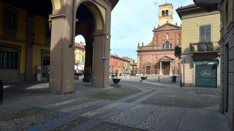 La commune de Codogno en Italie déserte à cause du coronavirus. (MAXPPP)