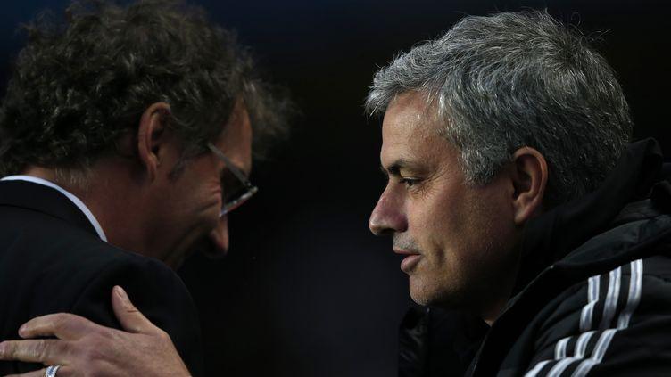Laurent Blanc et José Mourinho (PSG-Chelsea)