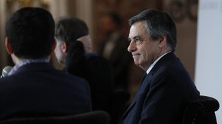 Le candidat Les Républicains à la présidentielle, François Fillon, le 31 janvier 2017 à Paris. (THOMAS SAMSON / AFP)
