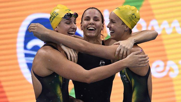La joie du relais australien (MARTIN BUREAU / AFP)