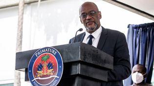 Le Premier ministre haïtien Ariel Henry à Port-au-Prince (Haïti), le 20 juillet 2021. (VALERIE BAERISWYL / AFP)