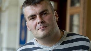 Yoan Delorme,père biologique d'un enfant né sous X demandant en justice la restitution de son garçon, le 13 octobre 2014 au tribunal de Rennes (Ille-et-Vilaine). (  MAXPPP)