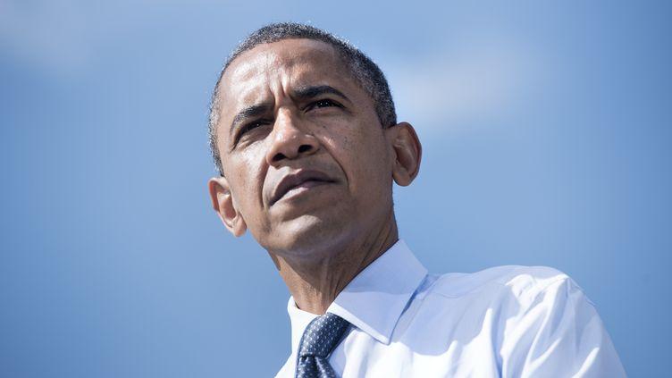 Barack Obama, le 13 septembre 2012 à Golden (Colorado). (BRENDAN SMIALOWSKI / AFP)