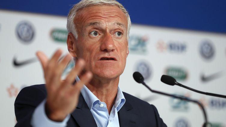 Le sélectionneur de l'équipe de France, Didier Deschamps. (PATRICK KOVARIK / AFP)