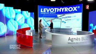 """Levothyrox : Agnès Buzyn, la ministre de la Santé, répond aux questions d'Elise Lucet dans """"Envoyé spécial"""" (FRANCE 2 / FRANCETV INFO)"""