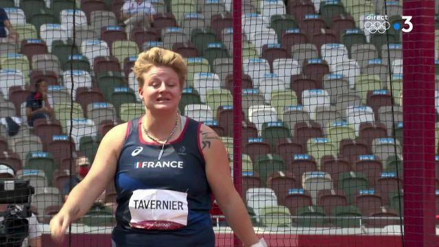 Alexandra Tavernier est en finale du lancer du marteau !En lançant à 73,51 mètres dès sa deuxième tentative, elle s'assure une place parmi les 12 finalistes olympiques.