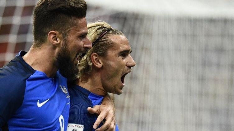 Olivier Giroud et Antoine Griezmann (France) (CHRISTOPHE SIMON / AFP)