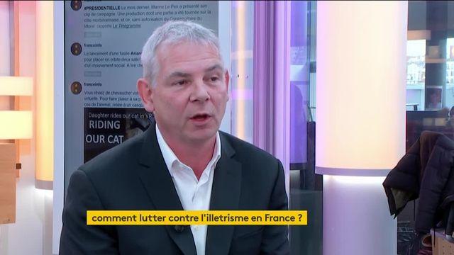 """Invité de Jean-Paul Chapel dans """":L'éco"""" à l'occasion de la semaine de la langue française, Thierry Lepaon, président de l'agence nationale de lutte contre l'illettrisme, présente les enjeux de son nouveau combat."""