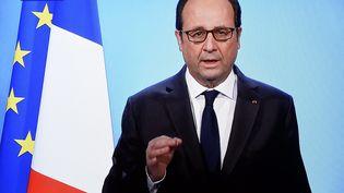François Hollande renonce à se présenter à l'élection présidentielle de 2017, le 1er décembre lors d'une allocution télévisée. (ALEXANDRE MARCHI / MAXPPP)