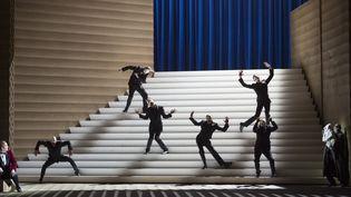 """""""Rigoletto"""" de Verdi à l'Opéra Bastille, dans une mise en scène de Claus Guth.  (Monika Rittershaus/OnP)"""
