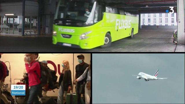 Déconfinement : le retour des voyageurs en bus, train et en avion