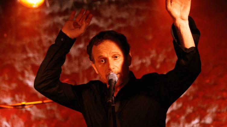 Charles Berling sur la scène du Sentier des Halles (déc.2011)  (CHAUVEAU/SIPA/1201032024)