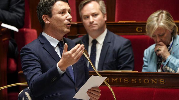 Le porte-parole du gouvernement, Benjamin Griveaux, lors d'une session de questions au gouvernement à l'Assemblée nationale, le 12 mars 2019. (LIONEL BONAVENTURE / AFP)