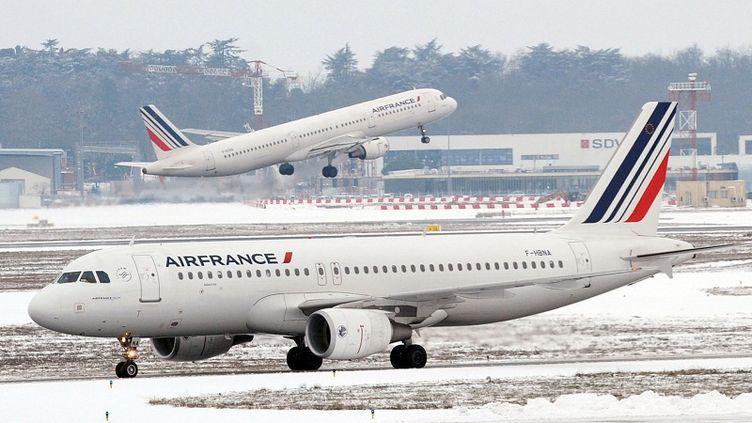 Sur le tarmac de l'aéroport de Toulouse-Blagnac (Haute-Garonne), le 6 février 2012. (REMY GABALDA / AFP)