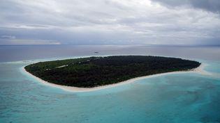 Vue aérienne de Grande Glorieuse, l'une des cinq îles Eparses (SOPHIE LAUTIER / AFP)