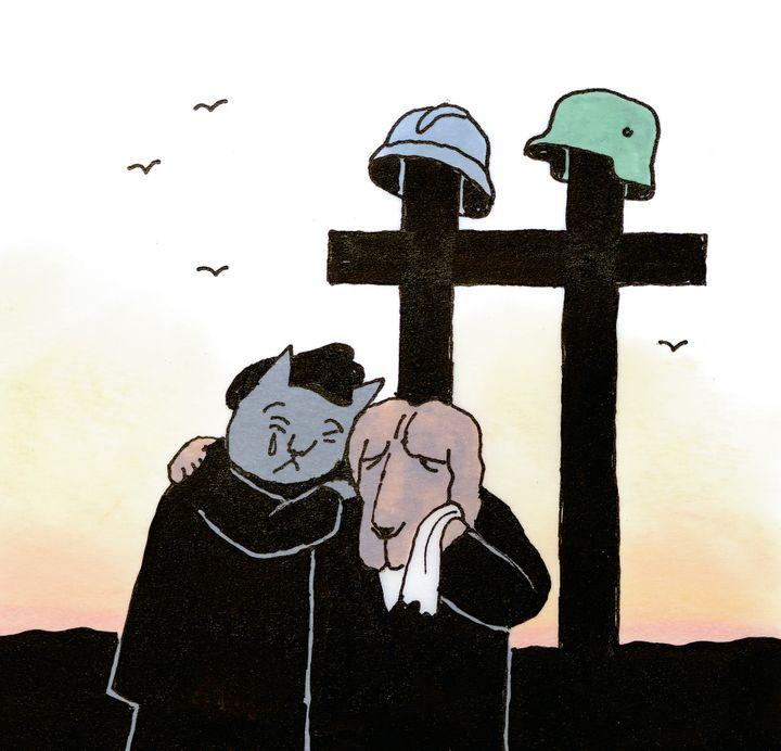 "Illustration de ""Ni oui ni non"", Tomi Ungerer  (Tomi Ungerer / L'école des loisirs)"
