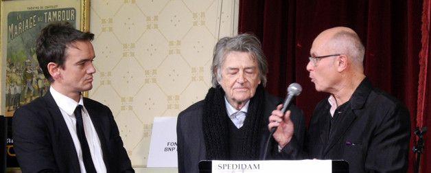 Stéphane Kerecki, Jean-Pierre Mocky et François Lacharme, président de l'Académie du Jazz  (Annie Yanbékian)