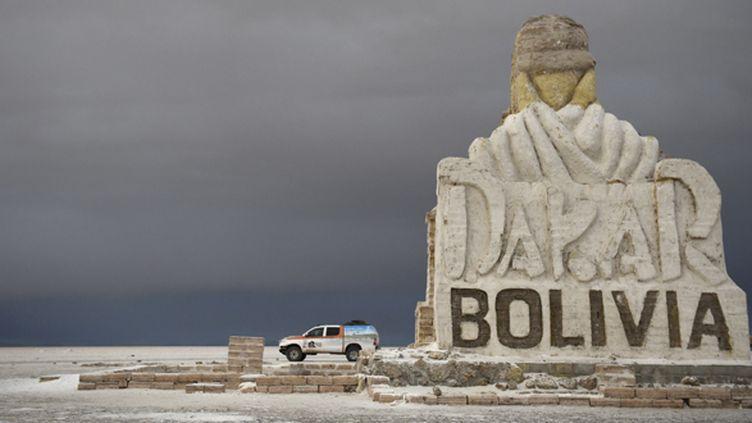 Le Salard d'Uyuni en Bolivie accueille le Dakar (FRANCK FIFE / AFP)