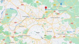 Le corps sans vie d'une femme avait été retrouvé sous un arbre à Arnouville le 31 mars. ((CAPTURE ECRAN GOOGLE MAPS))