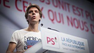 Thierry Marchal-Beck, lors d'un discours à Paris, le 5 octobre 2013. (MAXPPP)