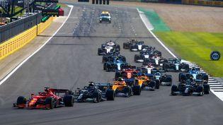 Charles Leclerc s'est hissé à la première place après l'accident de Max Verstappen. (XAVI BONILLA / XAVI BONILLA)