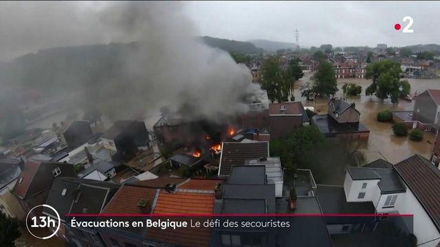 Inondations en Belgique : le défi des secouristes dans un pays endeuillé