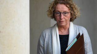 La ministre du Travail, Muriel Pénicaud, à l'issue d'un Conseil des ministres au palais de l'Eysée, le 21 novembre 2018. (ALAIN JOCARD / AFP)