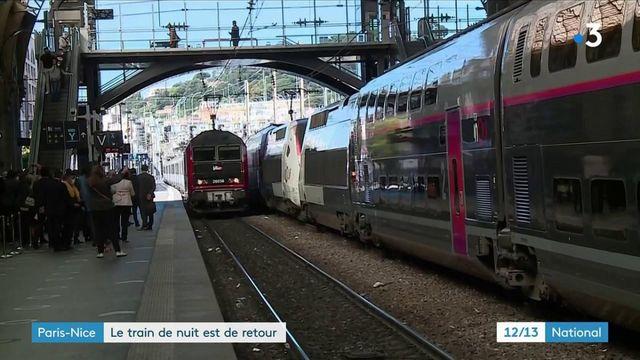 Transports : le train de nuit Paris-Nice est de retour