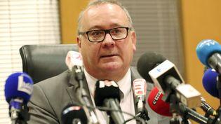 Le procureur de la République de Grenoble, Jean-Yves Coquillat, lors d'une conférence de presse sur la disparition de la petiteMaëlys, le 30 novembre 2017. (MAXPPP)